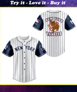 New york yankees and scooby doo all over print baseball jersey