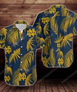 Notre dame fighting irish short sleeve hawaiian shirt 2 - Copy