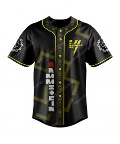 Rammstein metal rock band full print baseball jersey 2 - Copy