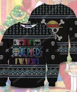 Straw hat pirates silhouette pirates for christmas time ugly christmas sweater 2