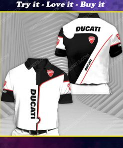 The ducati sports car racing all over print polo shirt