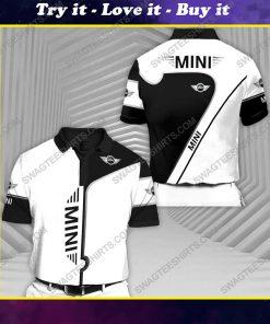 The mini cooper car racing all over print polo shirt