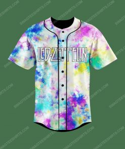 Tie dye led zeppelin electric magic all over print baseball jersey 2 - Copy