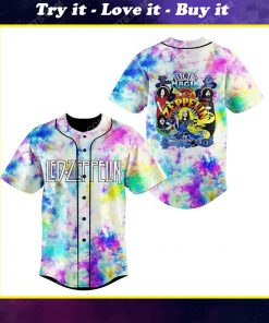 Tie dye led zeppelin electric magic all over print baseball jersey