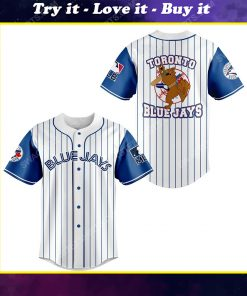 Toronto blue jays and scooby doo all over print baseball jersey