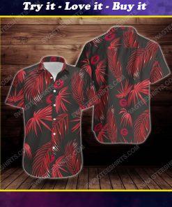 Tropical summer georgia bulldogs short sleeve hawaiian shirt