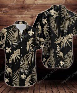 Tropical summer new orleans saints short sleeve hawaiian shirt 2