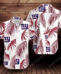 Tropical summer new york giants short sleeve hawaiian shirt 2