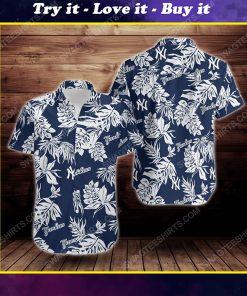 Tropical summer new york yankees short sleeve hawaiian shirt