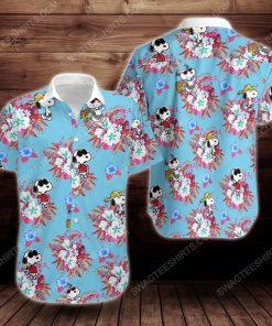 Tropical summer snoopy short sleeve hawaiian shirt 2 - Copy