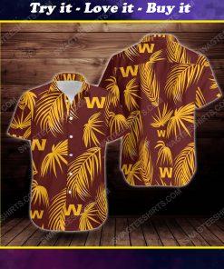 Tropical summer washington football team short sleeve hawaiian shirt