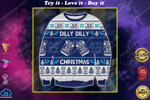 Bud light dilly dilly christmas ugly christmas sweater 1
