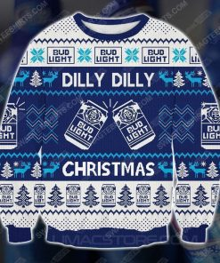 Bud light dilly dilly christmas ugly christmas sweater