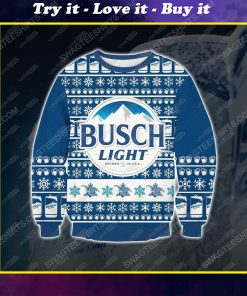 Busch light beer ugly christmas sweater 1