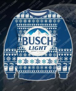 Busch light beer ugly christmas sweater
