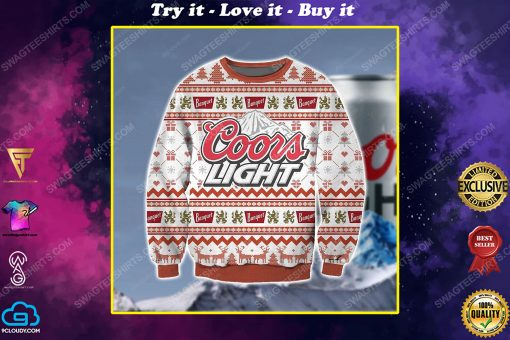 Coors light beer ugly christmas sweater 1