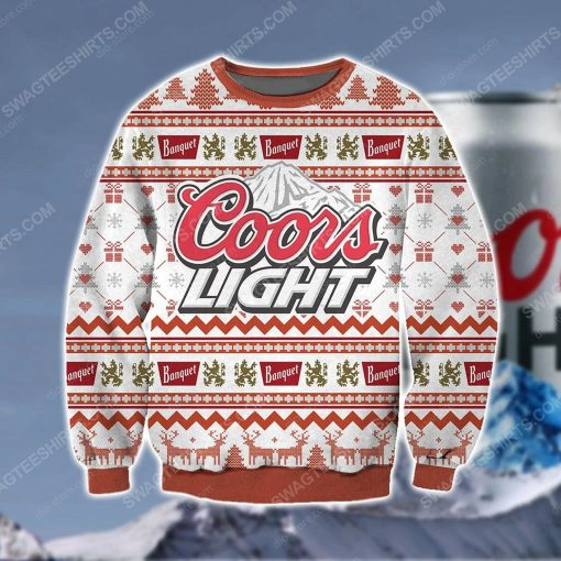 Coors light beer ugly christmas sweater - Copy