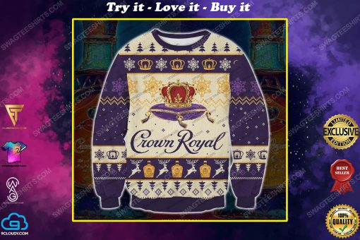 Crown royal canadian whisky ugly christmas sweater 1