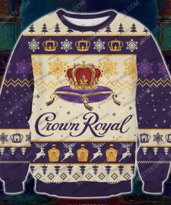 Crown royal canadian whisky ugly christmas sweater