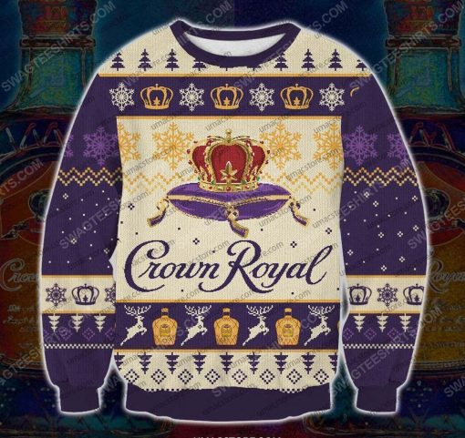 Crown royal canadian whisky ugly christmas sweater - Copy