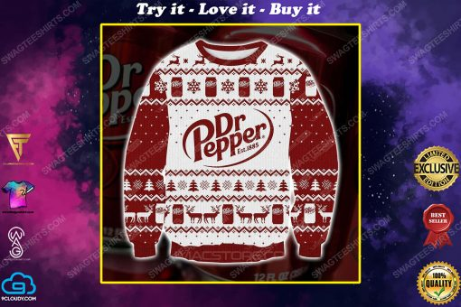Dr pepper est 1885 ugly christmas sweater 1