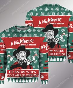Freddy krueger he knows when you are sleeping ugly christmas sweater 1 - Copy (2)