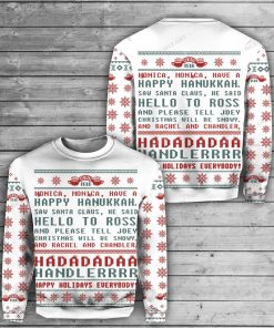 Friends tv show happy holidays ugly christmas sweater 1 - Copy (2)