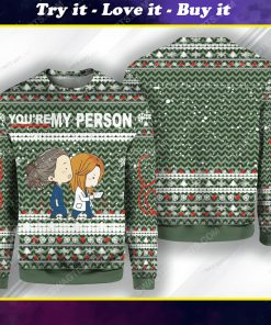 Grey's anatomy tv show you're my person ugly christmas sweater