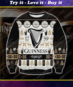 Guinness the 1759 all over print ugly christmas sweater 1