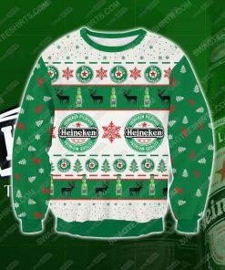 Heineken beer all over print ugly christmas sweater - Copy (2)