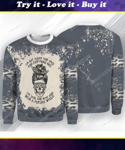 I'm not sugar and spice and everything nice i'm sage hood skull ugly christmas sweater