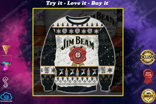 Jim beam bourbons and whiskeys ugly christmas sweater 1
