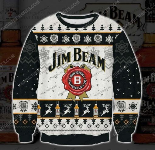 Jim beam bourbons and whiskeys ugly christmas sweater