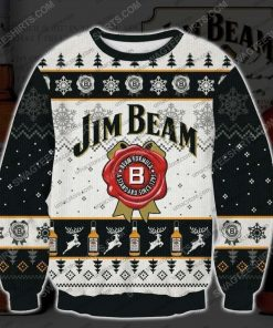 Jim beam bourbons and whiskeys ugly christmas sweater - Copy (2)