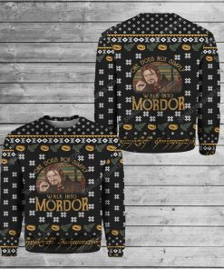 LOTR one does not simply walk into mordor ugly christmas sweater 1 - Copy (2)