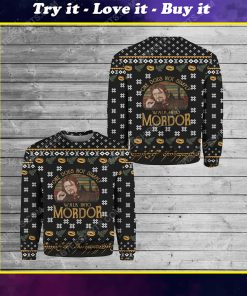 LOTR one does not simply walk into mordor ugly christmas sweater