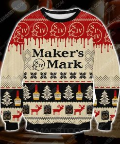 Maker's mark whisky ugly christmas sweater - Copy (3)