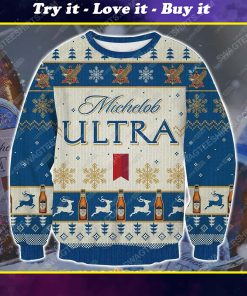 Michelob ultra beer ugly christmas sweater 1