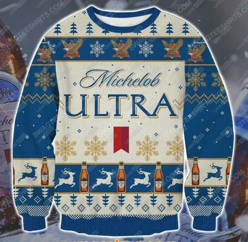 Michelob ultra beer ugly christmas sweater - Copy