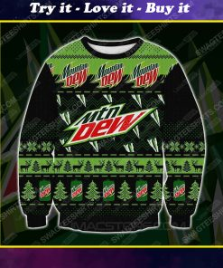 Mountain dew all over print ugly christmas sweater 1