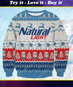 Natural light beer ugly christmas sweater 1