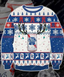 Pabst blue ribbon beer ugly christmas sweater - Copy