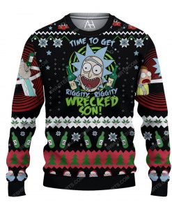 Rick and morty time to get schwifty ugly christmas sweater 1 - Copy (2)