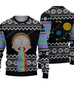 Rick and morty tv show ugly christmas sweater 1 - Copy (2)