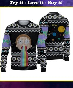 Rick and morty tv show ugly christmas sweater