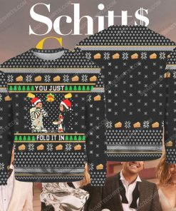 Schitt's creek you just fold it in ugly christmas sweater 1 - Copy (2)