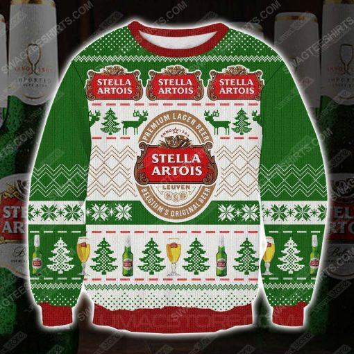 Stella artois premium lager beer ugly christmas sweater - Copy (2)