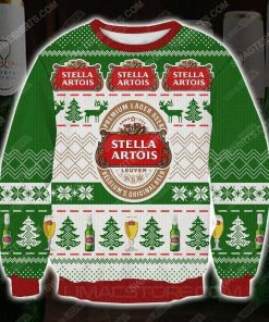 Stella artois premium lager beer ugly christmas sweater - Copy