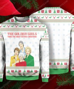 The golden girls 'twas the nightmare before christmas ugly christmas sweater 1 - Copy (2)