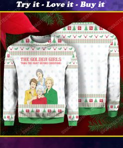 The golden girls 'twas the nightmare before christmas ugly christmas sweater